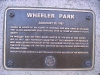 Wheeler Park Plaque