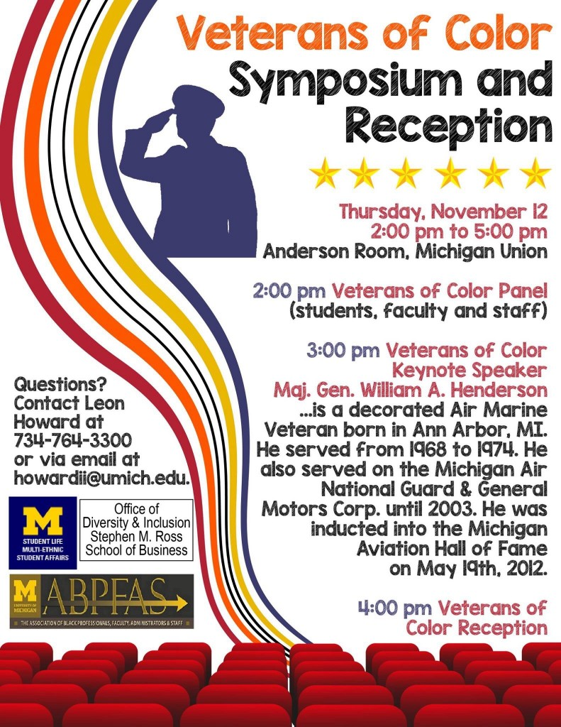 Veterans of color reception at UM